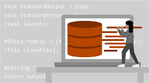 course illustration for Databases for Node.js Developers
