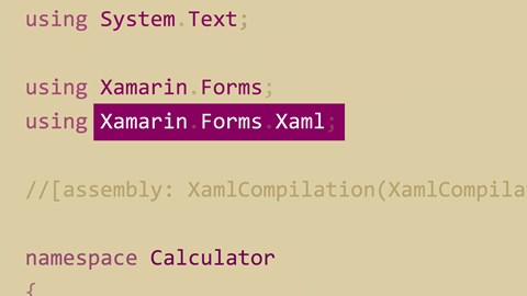 course illustration for XAML in Xamarin.Forms