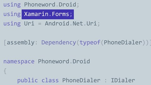 course illustration for Introduction to Xamarin.Forms