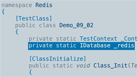 course illustration for NoSQL Development with Azure Redis and C#
