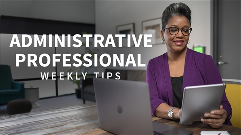 course illustration for Administrative Professional Tips