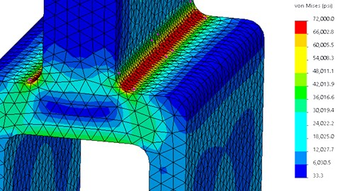 course illustration for SOLIDWORKS: Advanced Simulation