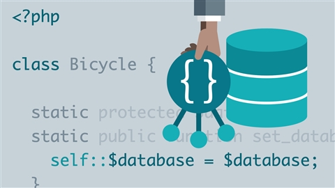 course illustration for PHP: Object-Oriented Programming with Databases