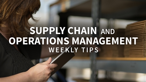 course illustration for Supply Chain and Operations Management Tips