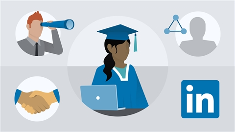 course illustration for Learning LinkedIn for Students