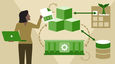 course illustration for Docker Essential Training: 3 Image Creation, Management, and Registry