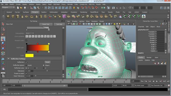 Character Design Lynda : Modeling a character in maya