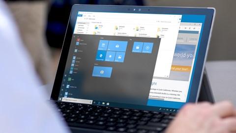 course illustration for Windows 10 April 2018 Update Essential Training