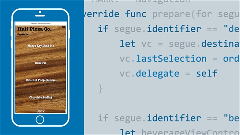 course illustration for Swift: Delegations and Data Sources