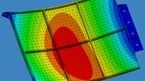course illustration for SOLIDWORKS Simulation: Dynamic Analysis