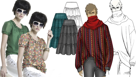 course illustration for Photoshop for Fashion: Warping Pattern Fills