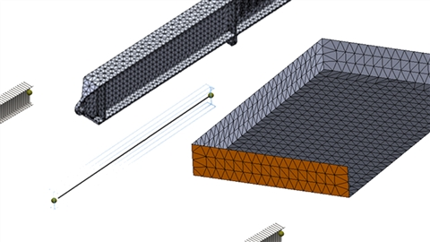 course illustration for SOLIDWORKS: Shell and Beam Modeling in FEA