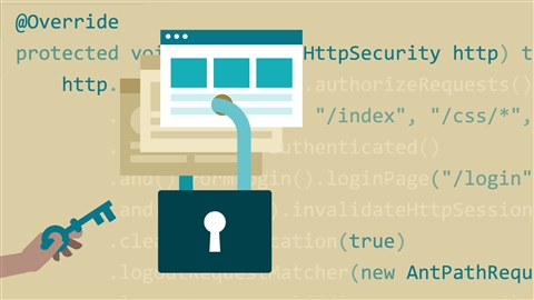 course illustration for Spring: Spring Security