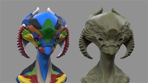 course illustration for Zbrush: Concept Kitbashing