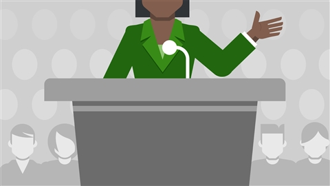 course illustration for Public Speaking Foundations