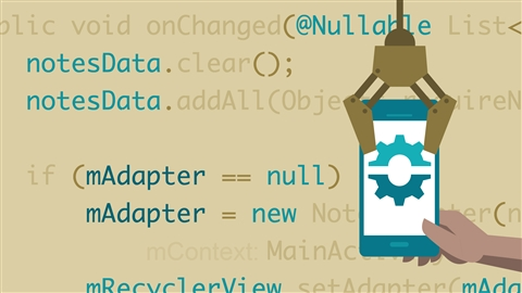 course illustration for Building an Android App with Architecture Components