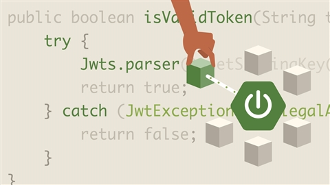 course illustration for Extending, Securing, and Dockerizing Spring Boot Microservices