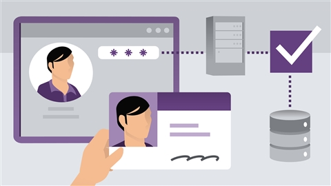 course illustration for ASP.NET MVC 5 Identity: Authentication and Authorization