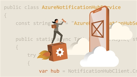 course illustration for Rapid Application Development with Xamarin and Azure App Service