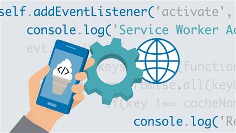 course illustration for Vanilla JavaScript: Progressive Web Applications