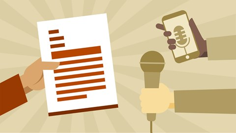 course illustration for Writing a Press Release