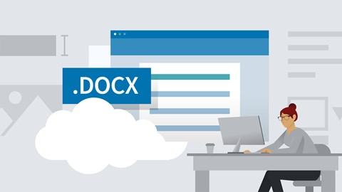 course illustration for Learning Word Desktop (Office 365)