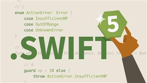 course illustration for Swift 5 Essential Training