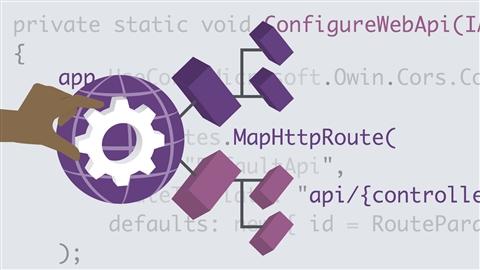 course illustration for Building Web APIs with ASP.NET Web API 2.2