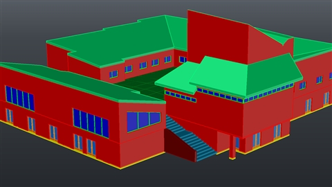 course illustration for AutoCAD: 3D Architectural Modeling