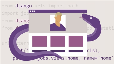 course illustration for Building a Personal Portfolio with Django
