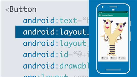 course illustration for Android Development Essential Training: The User Interface with Kotlin