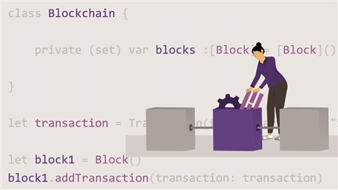 course illustration for Blockchain Programming in iOS Using Swift