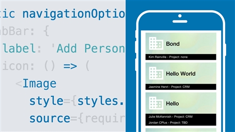 course illustration for Create a CRM Mobile Application with React Native