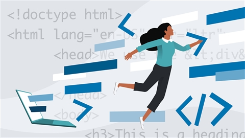 course illustration for HTML Essential Training
