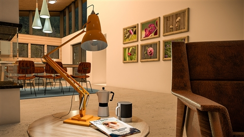 course illustration for SketchUp Pro: Modeling a Lamp