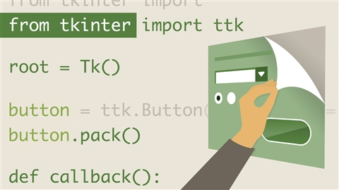 course illustration for Python GUI Development with Tkinter