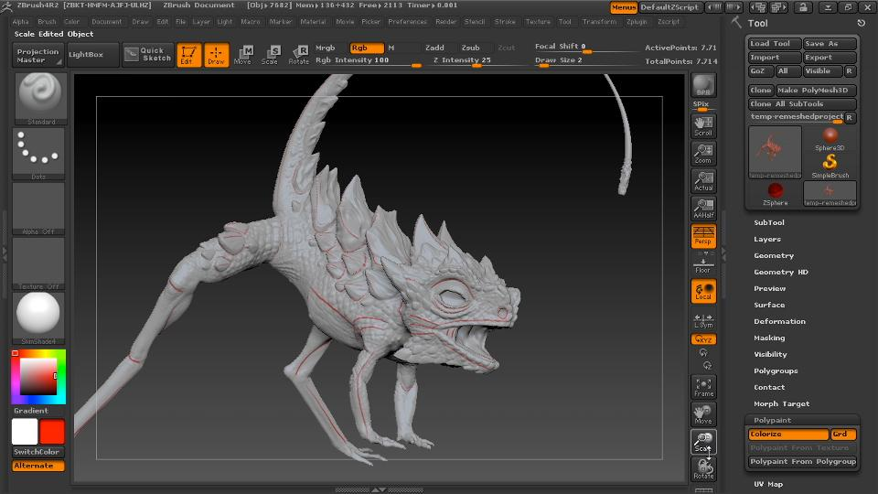 Watch the online video course digital creature creation in for Createur 3d