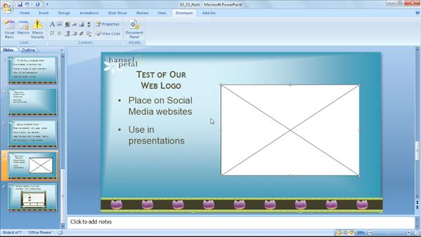 how to add audio to powerpoint 2007