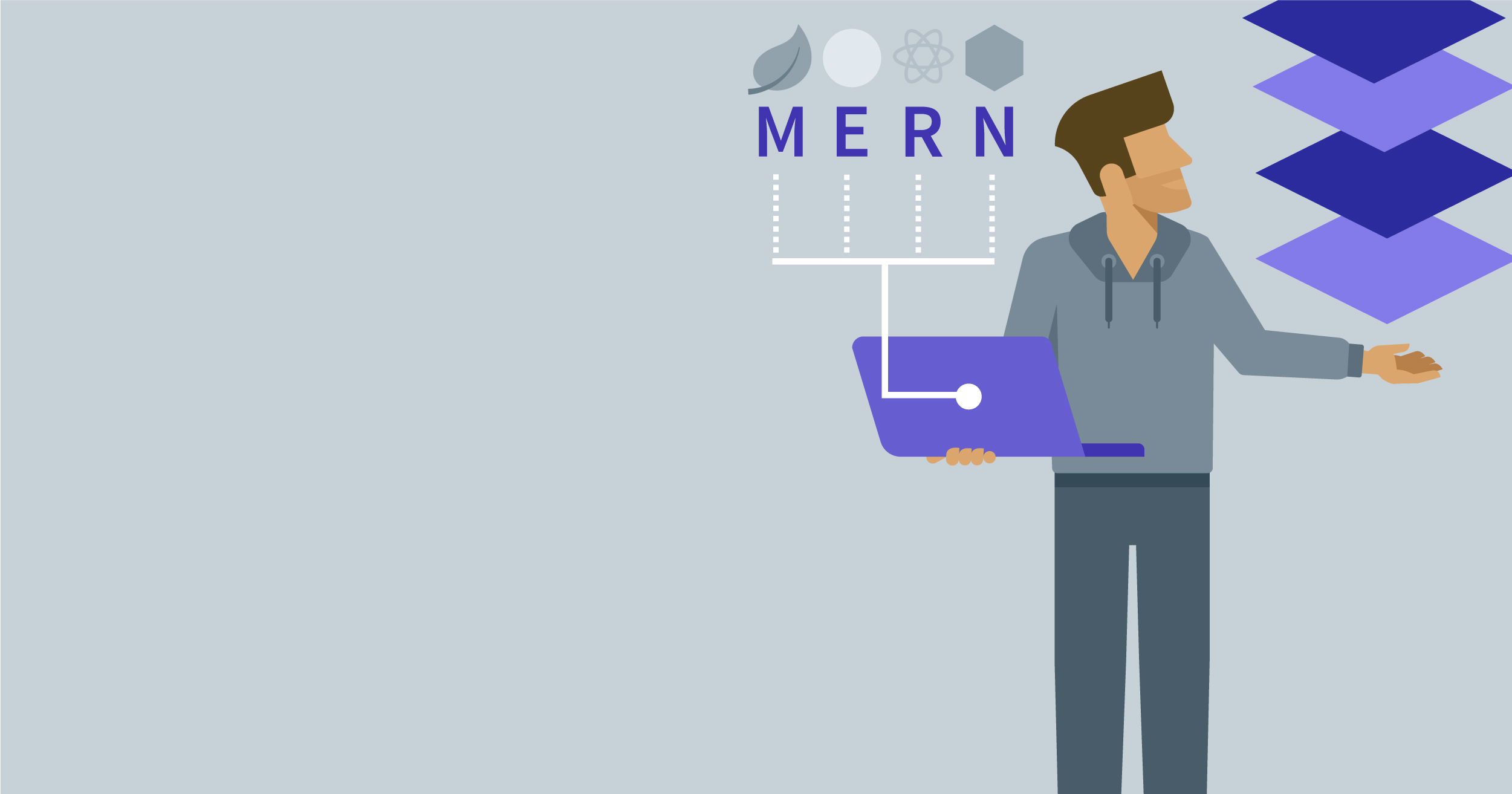 hero image for Learning Path: Become a MERN Stack JavaScript Developer