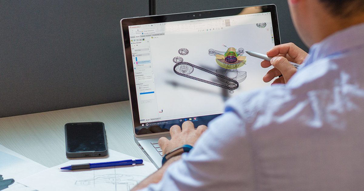 hero image for Learning Path: Become a Certified CAD Designer with SOLIDWORKS