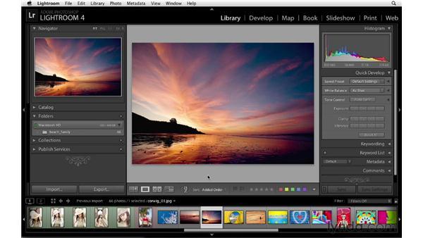 Using the interface shortcuts: Lightroom 4 Essentials: 01 Organizing and Sharing with the Library Module