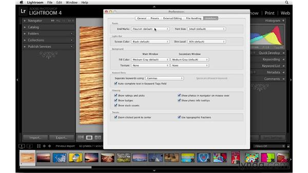 Customizing interface elements: Lightroom 4 Essentials: 01 Organizing and Sharing with the Library Module