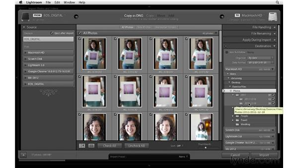 Creating an import preset: Lightroom 4 Essentials: 01 Organizing and Sharing with the Library Module