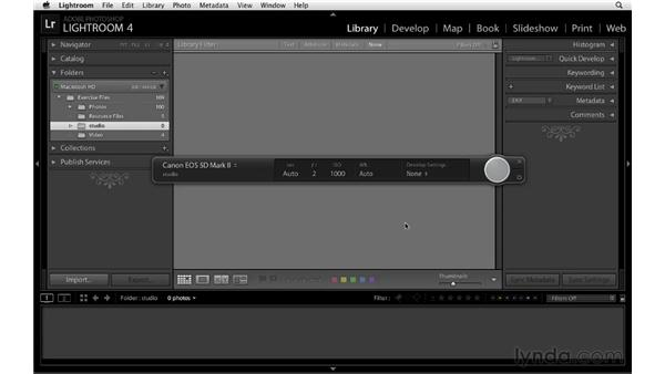 Introducing tethered capture: Lightroom 4 Essentials: 01 Organizing and Sharing with the Library Module