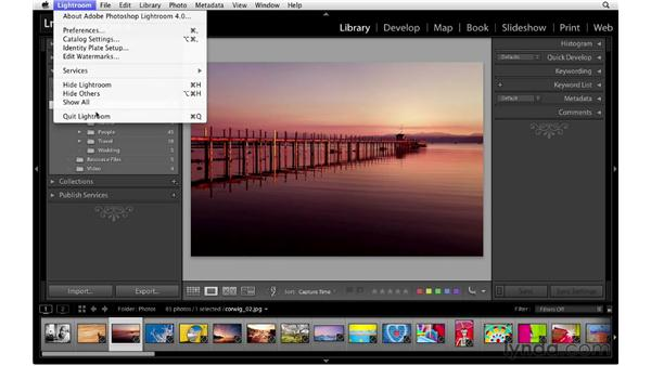 Optimizing and backing up catalogs: Lightroom 4 Essentials: 01 Organizing and Sharing with the Library Module