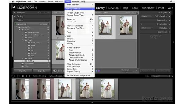 Customizing the Filmstrip: Lightroom 4 Essentials: 01 Organizing and Sharing with the Library Module