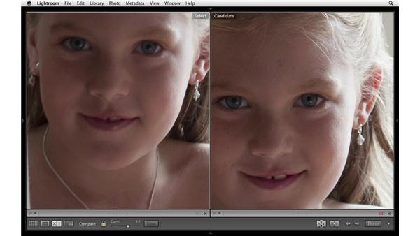 Comparing two images: Lightroom 4 Essentials: 01 Organizing and Sharing with the Library Module
