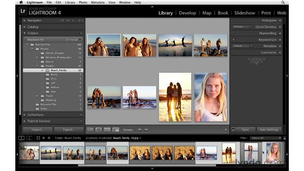 Surveying two or more images: Lightroom 4 Essentials: 01 Organizing and Sharing with the Library Module
