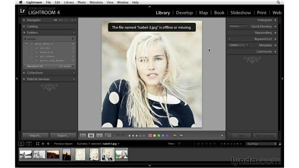 Working with multiple hard drives: Lightroom 4 Essentials: 01 Organizing and Sharing with the Library Module