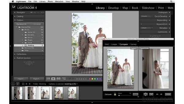 Dual-monitor support: Lightroom 4 Essentials: 01 Organizing and Sharing with the Library Module